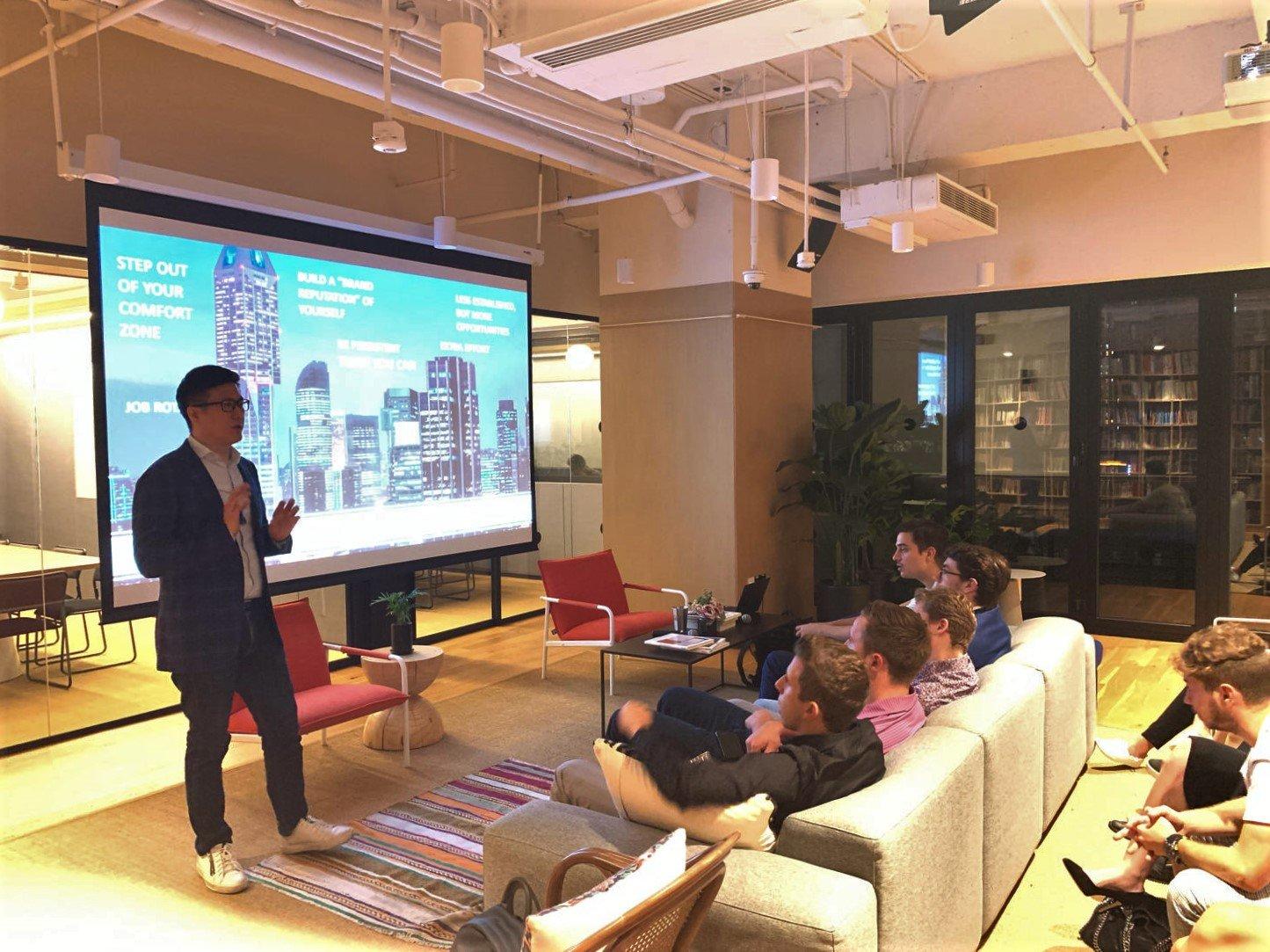 Absolute Internship Shanghai Program 2019 on a career speaker session by Insight Focus