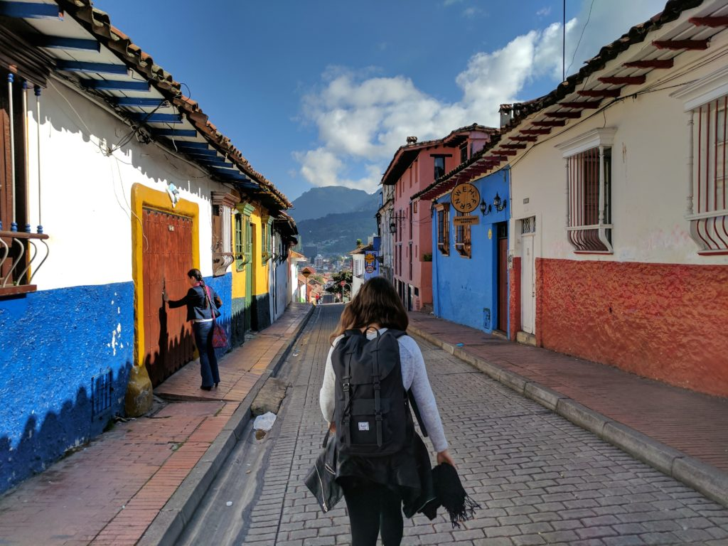 Colourful old streets in Bogota