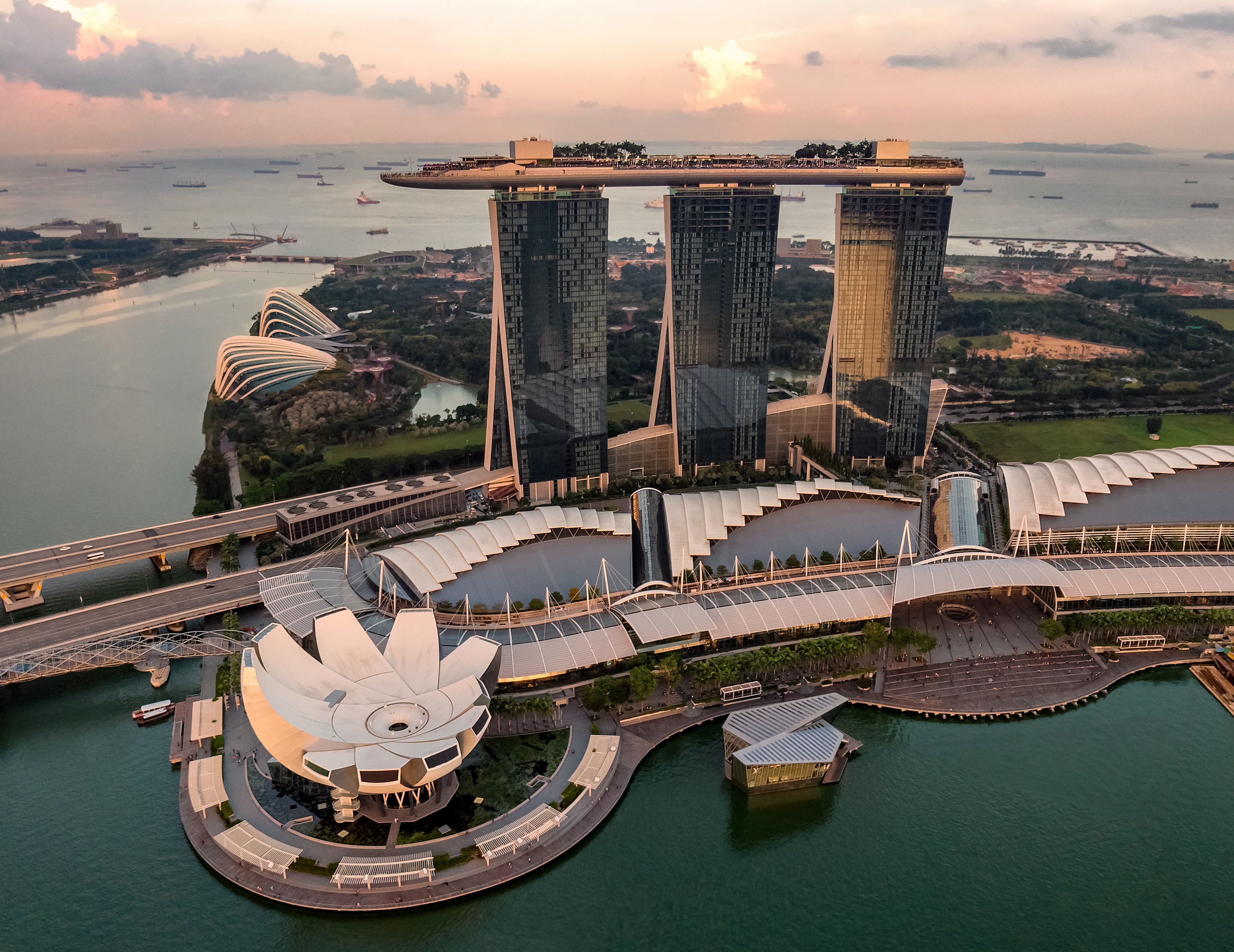 Singapore overview from the sky