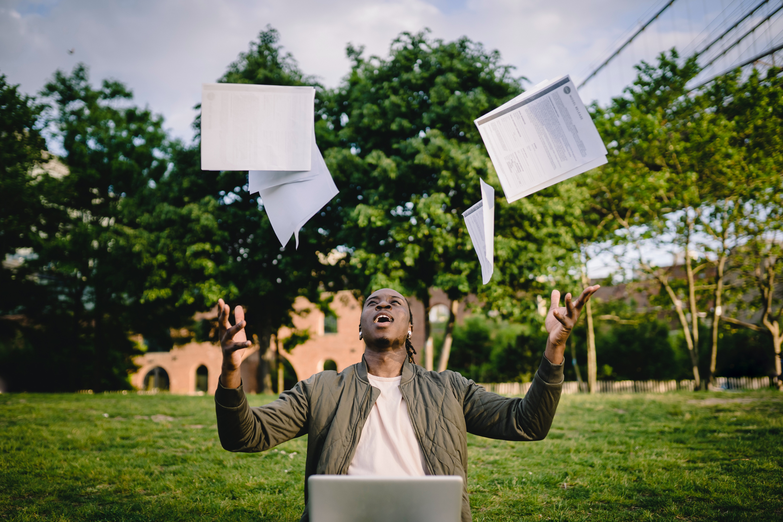 Student graduating from university